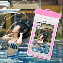 PVC Waterproof Diving Bag For Mobile Phones Underwater Pouch Case For iphone 5s 6 6s 6plus For Samsung Galaxy S4 S5 S6 G530F(China)