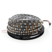 1m/5m WS2812B 30/60/144 leds/m Smartled pixel RGB individually addressable led strip light Black/White PCB WS2812 IC WS2812B 5V(China)
