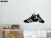 Mad World-FOOTBALL BOOTS Football Silhouette Wall Art Stickers Wall Decal Home DIY Decoration Removable Room Decor Wall Stickers