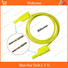 2pcs 1M superposition female to male 4mm banana test line,Patch Cord,test leads 1KV/32A,customizable 1.5/2/3M Free Shipping