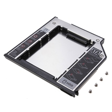 "2.5"" SATA 2nd SSD HDD Hard Drive Caddy Hard Disk Drive Caddy For Dell E6400 E6500 E6410 E6510 M2400 M4400 M4500(China)"
