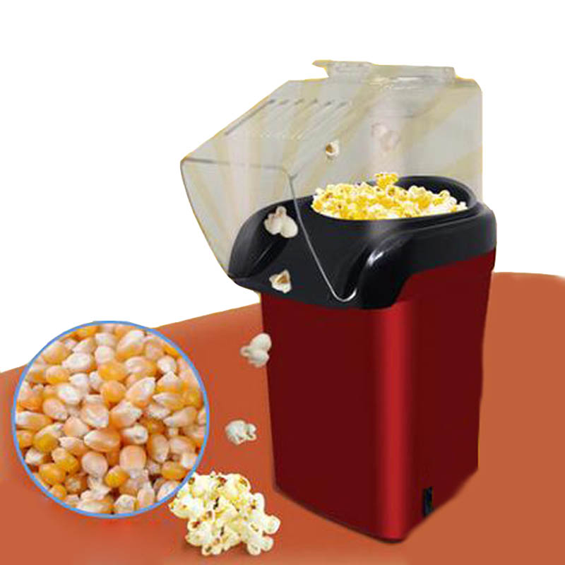 Mini Household Electric Popcorn Maker Machine Automatic Red Corn Popper Natural Hot Air Popcorn Maker corn Home use For kids<br>