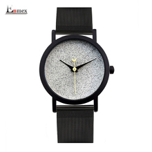Ladies gift new style watch Enmex creative design good night starry sky simple brief face steel band quartz fashion wristwatch(China)