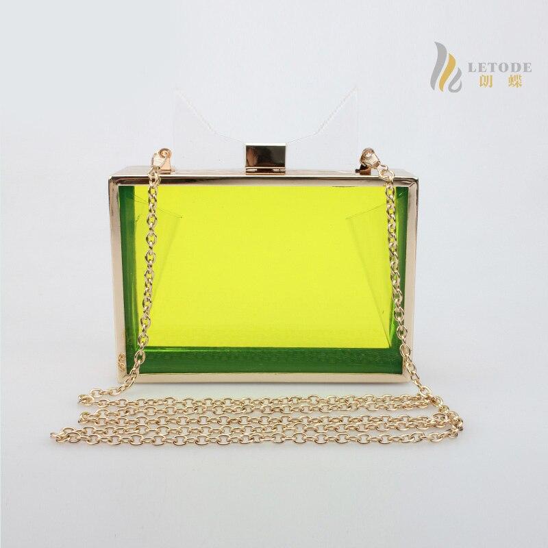 Fashion women acrylic shoulder bag Transparent messenger bags candy color handbag brand luxury designer bolsa feminina 5039<br>
