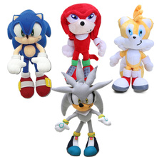 Blue Red Yellow Silver 20cm Classic Sonic the Hedgehog Plush Toys Knuckles 25th Anniversary Tails Soft Stuffed Animal Dolls(China)