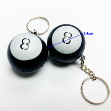 6pc Plastic pool number 8 ball key ring keychain VINTAGE Charms chain Retro Fashion Party Birthday Pinata Game Gift Prize