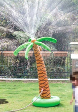 Hawaii Series Inflatable Coconut Palm Tree Water Sprinkler Toys 160CM Inflated Children Sandbeach Party Decorations Fun Toys