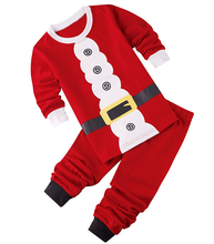 2017 New Baby Christmas Clothes Sets Santa Claus Suit Bebe Brand Clothing Set Tops+Pant 2pcs Boys Christmas Costume Kids Clothes(China)