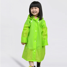 New Kids Rain Coat Children Raincoat Rainwear Rainsuit,Kids Boy Girl Universal EVA Waterproof Green with Schoolbag Raincoat
