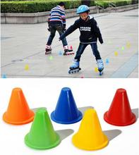 10pcs/lot Skate Pile Cup Windproof Roller Skating Cone Agility Training Marker Slalom Skateboard Marking Cones GYH