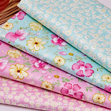 4PCS 20x25CM The Cloth of Cotton Fabric Floral Brocade Bed Cover Fabric for Needlework Handmade DIY Twill Fabric AB  wholesale