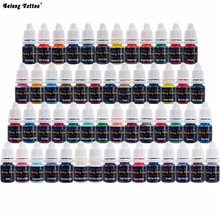 Tattoo Ink Pigment Set (8ml) 54 Color for Tattoo Machine Gun Kit Permanent makeup Ink cartridge pigment free shipping(China)