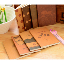 New Simple &Practical Design Stationery Vintage Pastel Drawing Pastels Pockets Notedpad Lovely Notebook 1 PC(China)