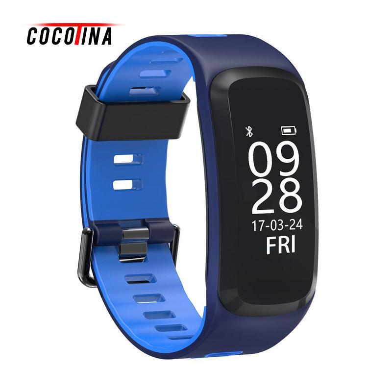 COCOTINA IP68 Waterproof Smart Bracelet Sports Model Hreart Rated Monitor Blood Pressure Sleep Monitoring Bluetooth LSB2905<br>