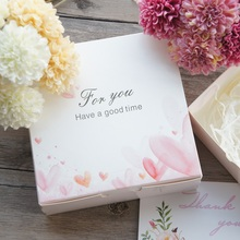 Simple New 13.5*13.5*5cm 10pcs White Heart For You Design Paper Box Candy Cookie Valentine Gift Packaging Wedding Christmas Use(China)