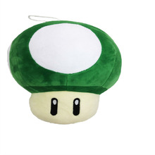 2017 Free Shipping Super Mario Mushroom Plush Toys Green Mushroom Plush Dolls 20cm Toad Plush Toy Dolls(China)