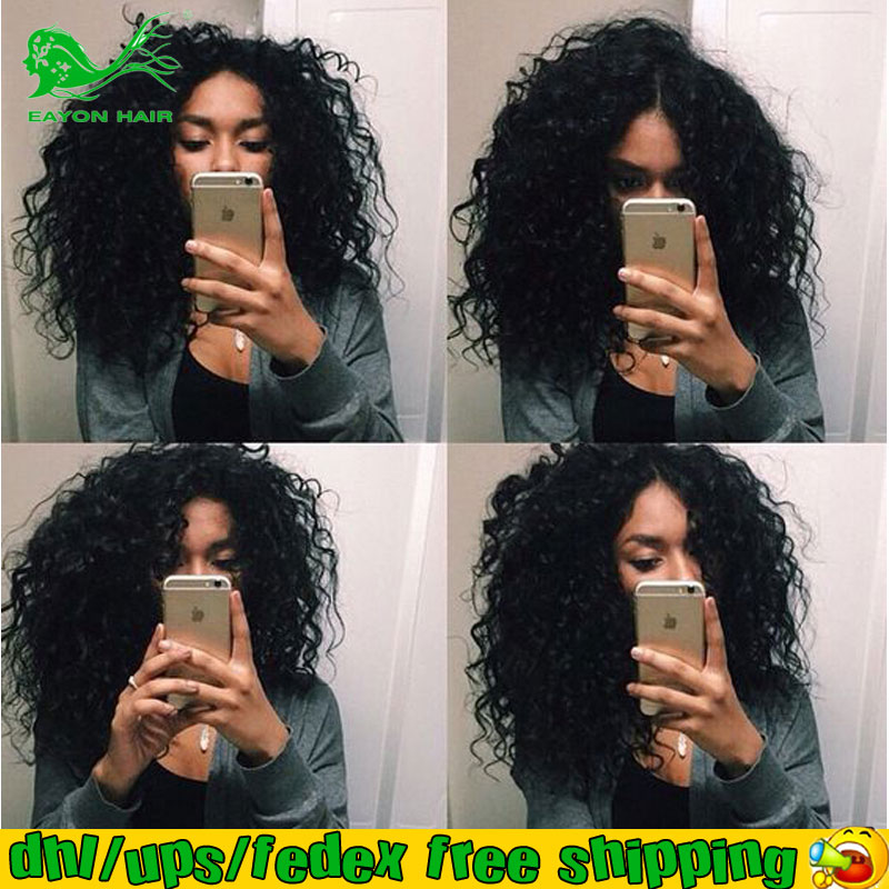 Afro Hair Extension Wig 7A Glueless Full Lace Human Hair Wigs With Baby Hair Short Kinky Curly Front Lace Wigs For Black Women<br><br>Aliexpress