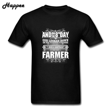 Fun Tshirt 8th Day God Made A Farmer T Shirt Men New Short Sleeve 100% Cotton Funny T-Shirt Big Size Tee Shirt Man Clothing