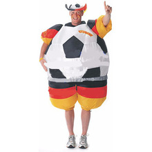 New World Cup German Soccer Suit foot ball inflatable costume One Size for Adult halloween cosplay carnival costumes for women(China)