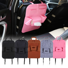 Car Auto Seat Back Multi-Pocket Storage Bag Holder Organizer Hanger Automobiles Accessory Black/Dark Gary/Brown/Light Gary/Pink