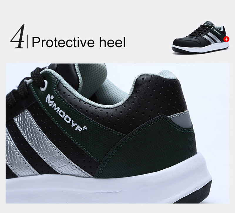 Modyf Men Safety Shoes Steel Toe Work Shoes Flats Casual Protective Footwear 13