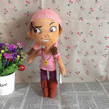 Free Shipping 30cm=11.8inch Original Jake and the Never Land Pirates Little Girl Lzzy Figure Stuffed Doll Soft Toy Gift(China)
