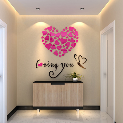 Butterfly love 3 d crystal acrylic solid wall porch home sitting room the bedroom TV setting wall decoration-325z<br><br>Aliexpress
