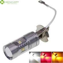 Sencart H3 PK22S 30W 6 x 3535SMD LED  White / Yellow / Red  for Car Fog Light / Daytime Running Light (DC/AC 12~24V)