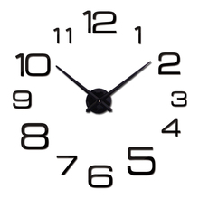 2016 New Diy Wall Clock Acrylic diy Clocks Quartz Watch Reloj De Pared Living Room Modern 3d Mirror Stickers Horloge Home Klok