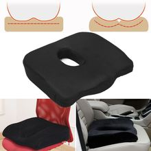 Memory Foam Seat Cushion Coussin Coccyx Pillow Orthopedic Design to Relieve Back Sciatica and Tailbone Pain Slip-Proof Grip