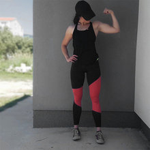 Buy Women workout Leggings Patchwork High Waist legging fitness Push Pants Elastic Leggings Sexy Girl Skinny Bodybuilding Leggins for $6.29 in AliExpress store