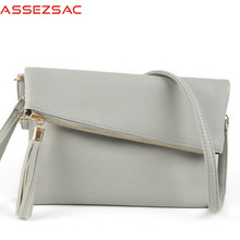 Assez sac new sale women messenger bags tassel handbags women handbags pu leather bag single shoulder bags clutch bolsas totes(China)
