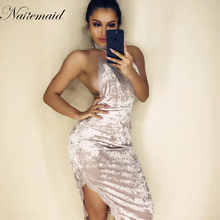 NATTEMAID Sexy Dresses Party Night Club lace Dress New Fashion Deep V neck Straps Bodycon Backless Sexy Women Summer Dresses(China)