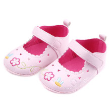 0-18 Months Cute Baby Shoes Sneaker Anti-slip Soft Sole Embroidered Princess Shoes Crib Shoes New @ZJF(China)