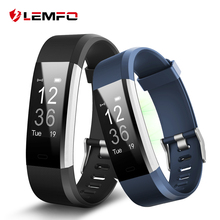 LEMFO ID115 HR Plus Smart Wristband Heart Rate Monitor Fitness tracker Smartband Bracelet Wrist Band for IOS Android Phone(China)