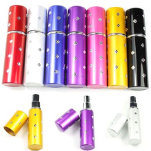 5ml Easy Fill Refillable Travel Perfume Atomizer Pump Spray Bottle Pocket 7 Colors Hot
