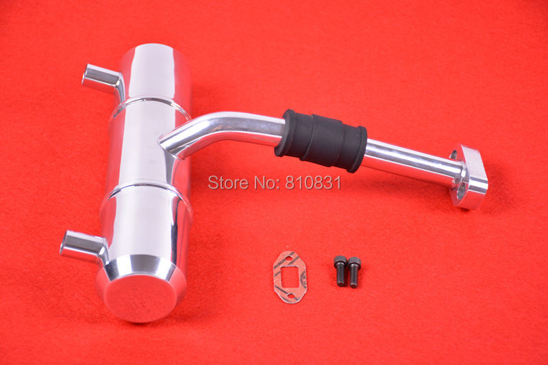 Double duel Exhaust Pipe/Tuned Pipe Fit HPI 1/5 KM ROVAN Baja 5B SS <br><br>Aliexpress