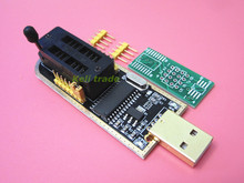 Free Shipping 50PCS CH341A 24 25 Series EEPROM Flash BIOS USB Programmer with Software & Driver