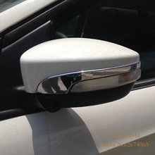 For 2013 2014 Ford Kuga Escape 2015 2016 Rear View Mirror Cover  Rearview Side Molding Decoration Chrome Car-styling Accessories