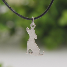 Paw Paw House Cat Charm Necklace Cat Necklaces & Pendants Cute Delicate Cat Antique Sliver Choker Women Christmas Gift Lead Free