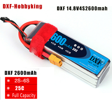 Buy 2017 DXF Lipo battery 14.8V 2600mAh 4S 30C MAX60C Lipo Bateria RC FPV Helicopter Quadcopter Boat Car Airplane RC AKKU for $26.82 in AliExpress store