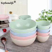 Children Baby Bowl Cute Dinner Tray Baby Dishes Fruit Plate Ear Style Children Feeding Bowl Tableware Healthy Material DA