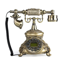 Retro Vintage Telephone Home Office Desk Phone Dcor Retro Style Push Button Dial Number Telephone ZDJ0376(China)