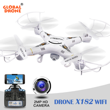 Buy Global Drone X182 Drone camera Remote Control Helicopter 6-Axis Remote Control Toys Quadrocopter Camera VS syma x5c for $46.29 in AliExpress store