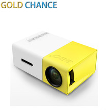 YG300 LED Portable Projector 400-600LM 3.5mm Audio 320 x 240 Pixels YG-300 HDMI USB Mini Projector Home Media Player PK YG400