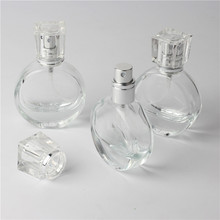 1pcs 20ml Clear Glass Empty Perfume Bottles Atomizer Spray Refillable Bottle Spray Scent Case with Travel Size Portable Funnel