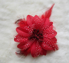 1pcs/lot new girl headbands Fashion beautiful Feather daisy Clip flowers for clip hair crochet Headwear Hair accessory xth002,1