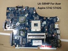 MBRB902001 MB.RB902.001 PEW71 LA-5894P For Acer aspire 5742 5742G laptop motherboard 100% working