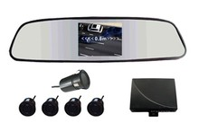 "cheapest Car Reversing Kit / 3.5""rearview mirror monitor 2CH video input+ Rearview Camera (IR+waterproof)+ Parking Sensor/"