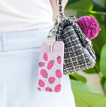 Sweet Summer LOVE Cute - Lady Girl's Frui tCards Case - 11CM Neck Hanging and Key Chain , PU ID & BUS Cards Pouch Case BAG
